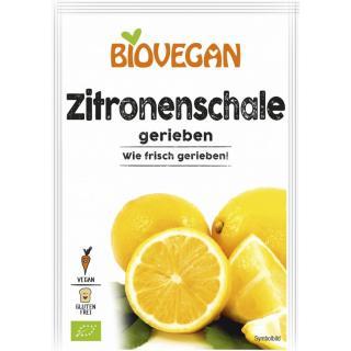 Bio Zitronenschalen gerieben