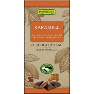 Vollmilch Schokolade mit Karamellfüllung HIH
