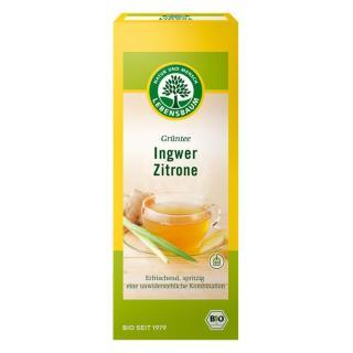 Grüntee Ingwer-Zitrone (Aufgußbeutel)