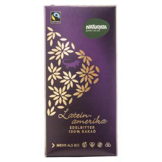 Edelbitter Schokolade Lateinamerika 100%