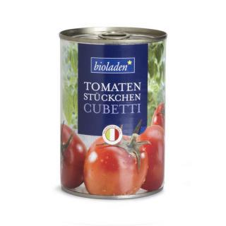 b*Cubetti Tomatenstücke in der Dose
