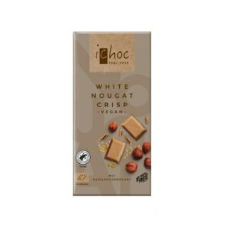 White Nougat Crisp Rice Choc  -vegan-