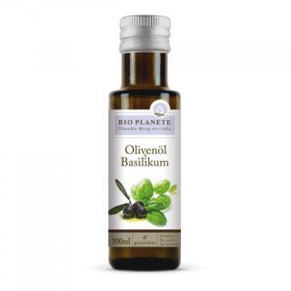 Olivenöl mit Basilikum