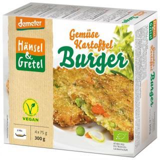 Gemüse-Kartoffel-Burger, vegan