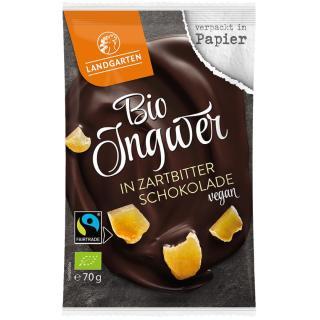 Ingwer in Zartbitter Schokolade