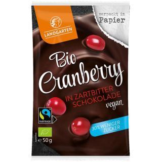 Cranberry in Zartbitter-Schokolade